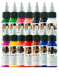basic colours 14 bottle set quantum tattoo ink