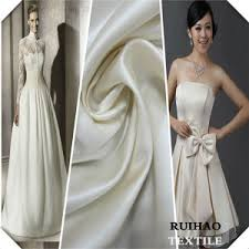 Wedding Dress Material China 100 Polyester White Ivory Silk Satin Wedding Dress Fabric
