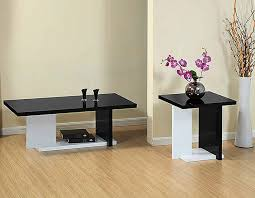 Coffee Tables Sets Modern White And Black Coffee Table Sets Furniture