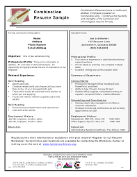 exles of a combination resume hybrid resume