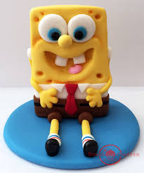 spongebob cake toppers spongebob squarepants fondant cake topper sweet creations by