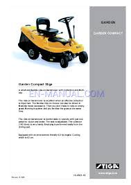 user u0027s manual for lawn mowers stiga garden compact 13 2501 19