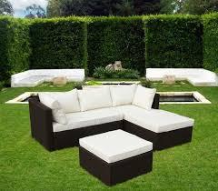 divanetti rattan divano angolare per esterni con comodi cuscini idfdesign