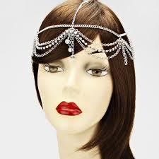 chain headpiece women forehead chain headpiece rhinestone teardrop