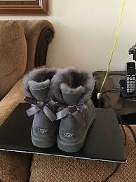 womens ugg boots size 8 ugg australia womens grey mini bailey bow boots size 8 what s it