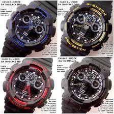 Jam Tangan Casio Karet jual jam tangan digital pria g shock casio ga 100 hitam black