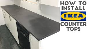 Grey Laminate Flooring Ikea How To Install Laminate Ikea Countertops Quick And Easy Youtube