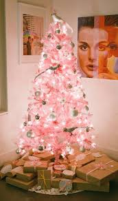 soft pink tree with white ornaments pictures photos