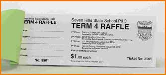 4 sample raffle tickets receipt templates