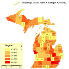 Michigan Map Of Counties by Untitled Document