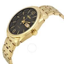 amazon black friday specials on seiko mens watches seiko recraft automatic black dial gold tone men u0027s watch snkn48