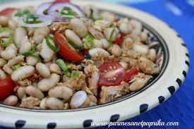cuisiner les haricots blancs frais salade de thon haricots blancs et harissa parmesan et paprika