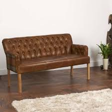 Curved Arm Sofa Vintage Leather Curved Arm Sofa Bench Choice Of Sizes By The