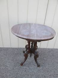 antique marble top pedestal table 52683 antique eastlake victorian marble top oval pedestal table ebay