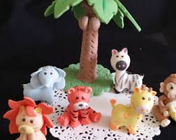 animal cake topper etsy