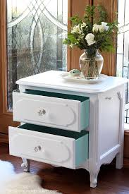 Do It Spray Paint - french provincial night table made over with spray paint from