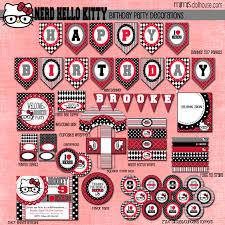 printable hello kitty birthday party ideas products archive mimi u0027s dollhouse
