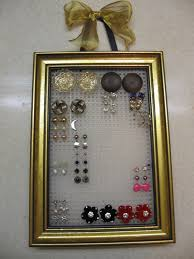 earring holder for studs stud earring organizer how to make a jewelry frame no sew on