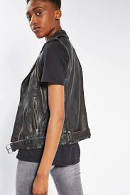 leather biker jacket sleeveless leather biker jacket topshop usa