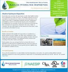 bio cremation bio response effluent decontamination systems and alkaline