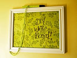 diy white board picture frame fabric mod podge yarn and a
