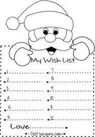 christmas wish list print out christmas wish list to santa write template printable