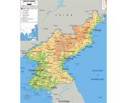 Physical Map Of East Asia by Maps Of North Korea Detailed Map Of North Korea In English