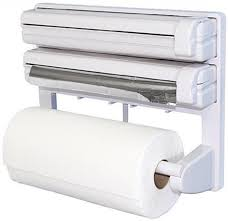 wonder world 3 in 1 kitchen roll holder mount for cling film