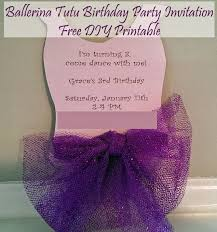 moments that take my breath away ballerina tutu invitation free