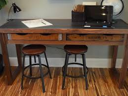 Built In Desk Diy How To Build A Rustic Office Desk How Tos Diy