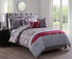 White And Red Comforter Kinglinen Com