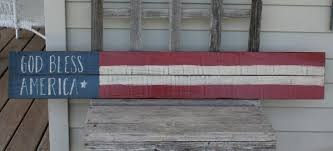god bless america reclaimed wood sign shanty town home decor