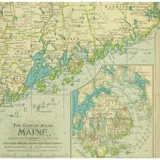 Map Maine Map Maine 1897 Original Art Antique Maps U0026 Prints