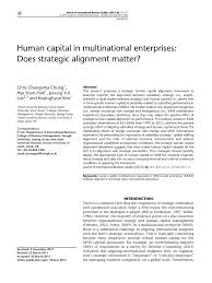 Universities As Multinational Enterprises The Multinational Human Capital In Multinational Pdf Available