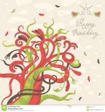 birthday wish tree happy birthday greeting card stock photography image 35522772