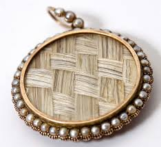 large locket necklace images Antique georgian 18k gold seed pearl large locket pendant hair jpg