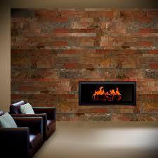 indoor tile living room wall slate copper val tile