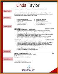 resume format exles for teachers teaching resume format free agreement template teaching resume