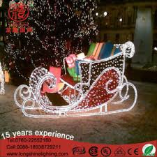 china white large outdoor 2d decoration sleigh