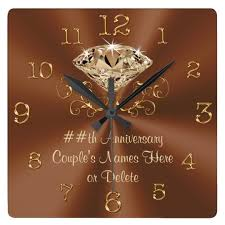 personalized anniversary clocks stunning personalized anniversary clocks zazzle