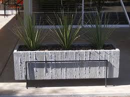 large wood grain concrete planter wood grain concrete and planters