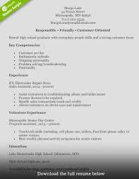 Key Competencies Resume How To Write A Perfect Customer Service Representative Resume