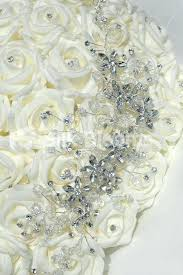 Silk Wedding Bouquet Artificial Wedding Bouquets With Crystals Artificial Wedding
