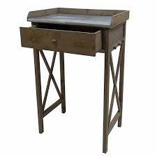 table cuisine tiroir meuble d appoint console 罌 1 tiroir en bois et zinc desserte de