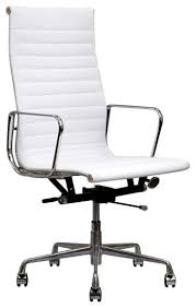 chic modern desk chair white office andifurniture with regard to