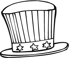 hat coloring page free download