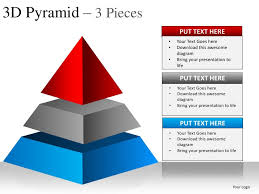 3d pyramid 3 pieces powerpoint presentation templates