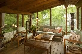porch blueprints decorate a covered back porch with a pine theme bonaandkolb