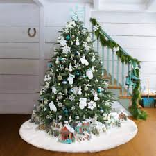 90cm snow plush tree skirt base floor mat cover