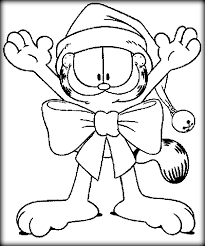 garfield coloring pages color zini